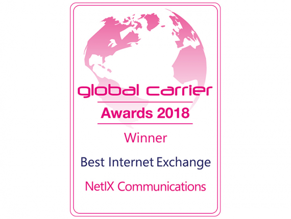"Neterra's partner, NetIX, globally recognized as ""The Best Internet Exchange"""